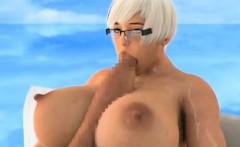 3D Futanari Selfsuck and Huge Self Facial!