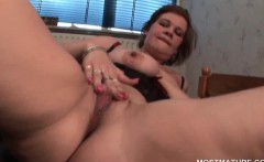 Hot pussy mature nymph vibes her pink clit
