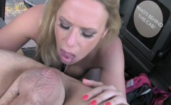 Cheating girlfriend gets anal banged in fake taxi