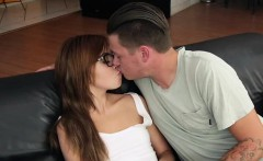 Kaylee Haze gets creampie in the couch