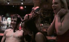 horny babes suck and fuck a cock in the bar after hours