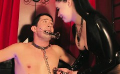 Mistress dominates pathetic sub with cbt