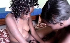Hot ass African chick eats a hot black friends pussy