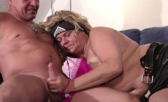 German BBW Mother and Dad in First Time Casting SexTape