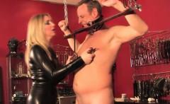 English mistress humiliates pathetic sub
