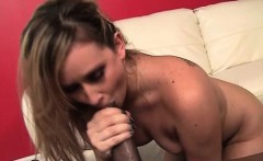 Blonde goes from interracial oral and straight