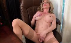Busty girl grinding orgasm