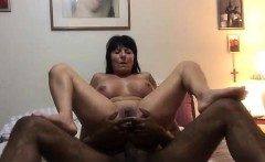 Brunette Grandma Interracial Assfucking