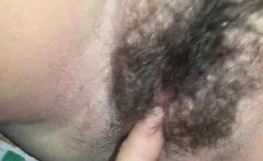 Hairy Teen vagina fingering and squirting