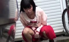 Japanese skank urinating