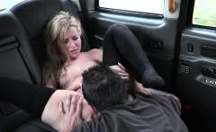 Petite blonde banging in cab