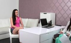 Female agent recorded lesbian casting