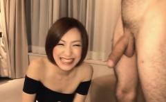 Nene Iino having a big cock throating her well