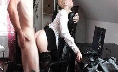 Hot secretary needs some hard dick