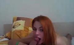 Redhead And Her Boyfriend Having Fun