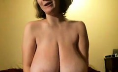 Cute Woman With Large And Saggy Breasts