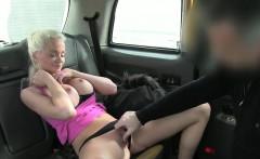 Big round tits blondie passenger analyzed by fake driver