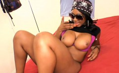 Lovely ebony gets a nasty pounding from sexy hunk