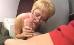 Milf Starts Touching Young Man's Boner