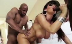 Large boobs MILF Kiara Mia enjoys gooey facial after fucked