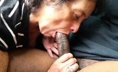 Amateur Granny giving head to a BBC
