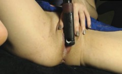Pussy play with my hairbrush and fingers