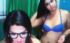 Busty Shemale Licks and Fingers Her Friend's Pussy