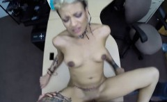 GF fucked by nasty pawn guy while her BF filming them