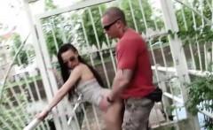 Slutty girl enjoys a good hard fucking in public