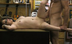 Babe in glasses sells her BFs stuff and screwed by pawn guy