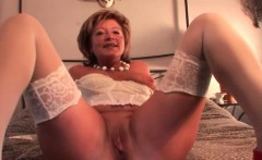 hot mature masturbates with dildo and fingers