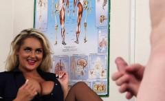 Fetish nurse watches perv