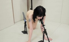 hot teenie was brought in butthole asylum for painful treatm