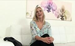 Horny Czech blonde screws fake agent