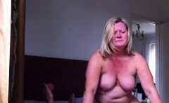 Wife sits on large cock