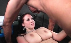 Hot tits redhead doing long cock on bus floor