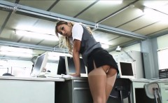 naughty secretary reveals the contours of her sweet ass in
