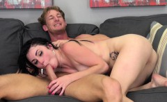 Brunette Veruca James gets pounded, blows him and then rides his dick