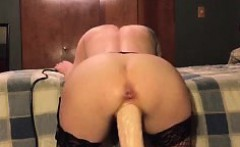 her pussy is fucked by big machine