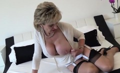 Cheating english milf lady sonia pops out her heavy hooters
