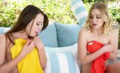 Two sexy MILFs swap daughter and enjoyed lesbian action