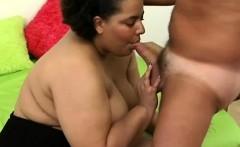 Cute ebony plumper Taylor rubs her needy slit and worships a big dick