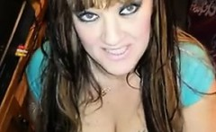 BBW with massive tits sucking on off dick