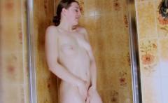 Teen girl in the shower