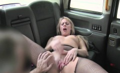 Blonde milf anal fucked in taxi