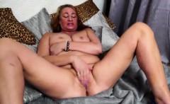 European granny toying herself