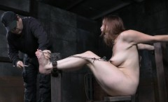 Submissive Bella Rossi disciplined harshly