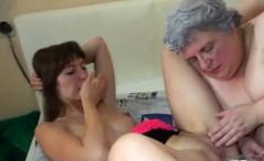 Fat Granny Enjoys A Petite Teen
