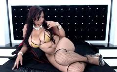 Big boobed brunette hottie reclines in her lingerie on live