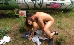Deutschland Report - Amateur German teen fucks in the forest